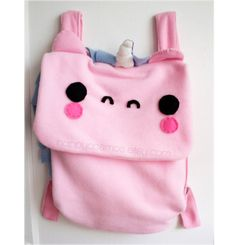 Unicorn Backpack - Kawaii Bag, Schoolbag, Bookbag, Pick Your Colors, Made to Order on Etsy, $35.00 PLEASEEE
