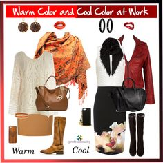 """Warm Color and Cool Color at Work"" by professionality on Polyvore"