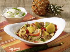 Unser beliebtes Rezept für Hähnchen-Ananas-Curry aus dem Wok und mehr als 55.000 weitere kostenlose Rezepte auf LECKER.de.
