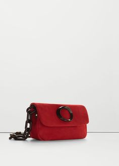 Chain leather bag - Bags for Women | MANGO USA