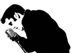 Elvis silhouette and vintage microphone