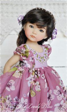 Dianna Effner Little Darling doll dress Сhiffon dress for little darling Dress with embroidery for d Pretty Dolls, Cute Dolls, Beautiful Dolls, Girl Doll Clothes, Girl Dolls, Doll Fancy Dress, Reborn Babypuppen, Doll Patterns Free, Bride Dolls