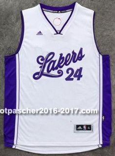 9de37b213 maillot nba pas cher Los Angeles Lakers Kobi Bryant   24 Blanc Christmas  Edition 2015- · New Orleans PelicansBasketsKobi ...