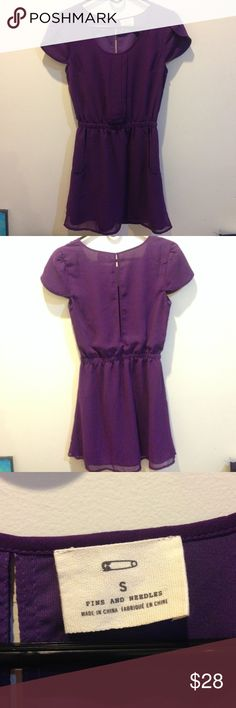 Pins & Needles Purple Pleated Pocket Dress Pins and Needles dress, purple color, lined and has pleats in the front center. The back has a peep hole at the top. Very cute! Pockets in front on either side. Great dress for this summer! Size small Pins & Needles Dresses Mini