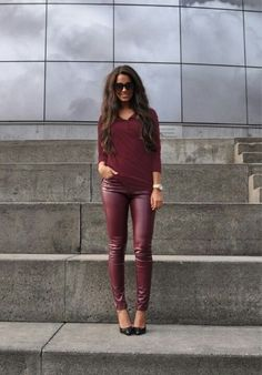 Wine, Berry and Burgundy Outfits for Winter