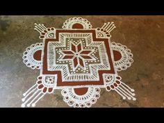 Indian Rangoli, Kolam Rangoli, Simple Rangoli, Big Rangoli Designs, Gond Painting, Padi Kolam, Krishna Janmashtami, Art Drawings Sketches, Wall Paintings