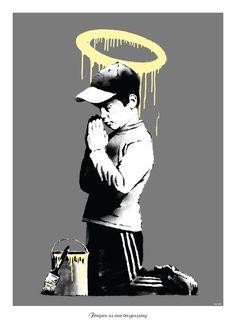 'Forgive Us Our Trespassing' by Banksy @ dontpaniconline.com