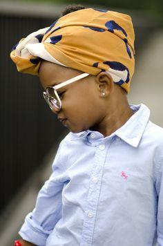black baby girl swag in turban & sunnies (Source: ariannaelizabeththephotog)