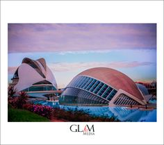 the Hemispferic and the palace of science from Valencia, by www.glamartmedia.com