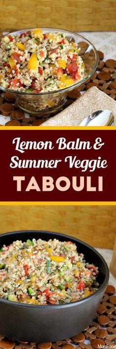 Lemon Balm & Summer Veggie Tabouli