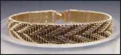 woven wire jewelry designs | Woven Wire Bracelet-Arrowhead