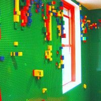 lego board wall awesome idea for a play room!!