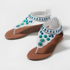 A Take On Turquoise Sandals