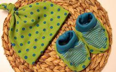 Knotenmütze und Babyschuhe nähen