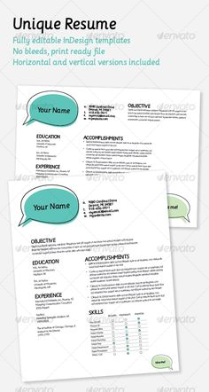 unique resume indesign indd modern cs3 available here https resume template freetemplates
