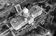 Little Rock - aerial - State Capitol