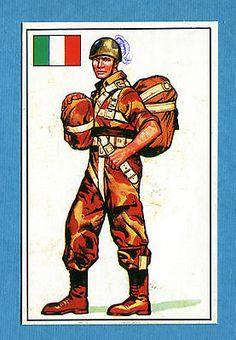ARMI E SOLDATI - Edis 71 - Figurina-Sticker n. 431 - PARACADUTISTA -Rec