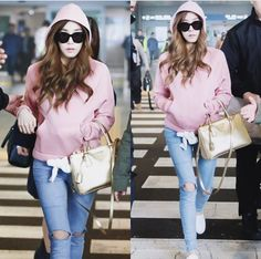 snsd gg girls generation 2015 airport fashion tiffany
