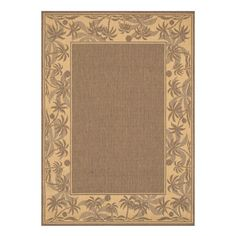 Palm Outdoor Rug in Beige & Natural
