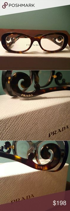 e64ba62c4ba Shop Women s Prada Brown size OS Glasses at a discounted price at Poshmark.