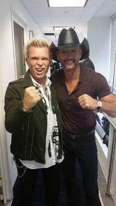 Billy Idol and Tim McGraw.  Interesting.