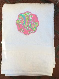 Lilly Pulitzer custom monogrammed towel / girl's by TheOrangeIris