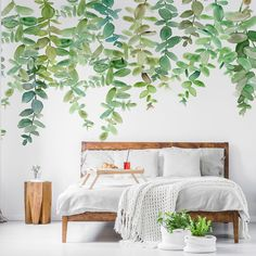 Stunning Evergreen Hanging Eucalyptus wall mural from Wallsauce. This high-quality Evergreen Hanging Eucalyptus wallpaper is custom-made. Easy to order and install.This delicate, watercolour Evergreen Hanging Eucalyptus wall mural will be a wonderful addition to any room in your home. It celebrates subtle, pastel shades that will transform your bedroom or living room into a haven of absolute bliss. Discover more from Wallsauce! #wallpaper #homedecor  #floral Where to buy floral wallpaper.