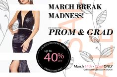 MARCH BREAK MADNESS SALE COMING SOON!! OVER 10000 DRESSES IN STOCK! SPECIAL ORDERS STILL AVAILABLE!  #prom2020 #eveninggown #fitted #prom #prom2k20 #promdress #graduation #formal #quincaenera #debut #batmitzvah #jewellery #Accessories #ballgowns #birthday