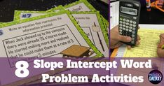 Get students solving real world linear equations. Check out all 8 linear models with bivariate data activities that get students practice solving slope intercept word problems. Includes FREE activity download.