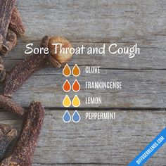 Sore Throat and Cough - Essential Oil Diffuser Blend