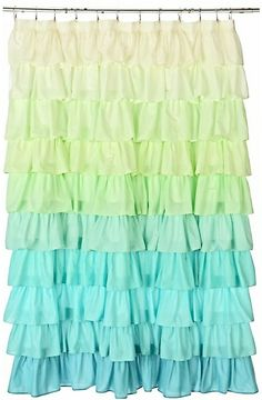 We offered up our favorite neutral shower curtains for a peaceful bathroom, but what if you're in the mood for some color? Here are a few bright and bold shower curtains that inject some fun into your bathroom! Ocean Bathroom, Ocean Room, Mermaid Bathroom, Mermaid Room, Bathroom Kids, Ocean Nursery, Beach Room, Ruffle Shower Curtains, Kids Curtains