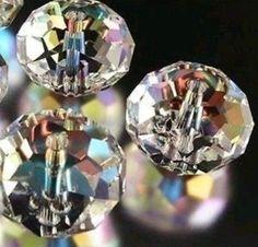 Wholesale 98PCS 4*6mm Crystal Blue AB better Loose Bead