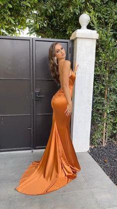 Cotillion Dresses, Deb Dresses, Cute Prom Dresses, Prom Outfits, Tight Dresses, Stylish Dresses, Elegant Dresses, Girls Dresses, Satin Formal Dress