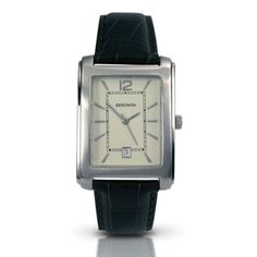 Sekonda Gents Stainless Steel Watch with Black Leather Strap