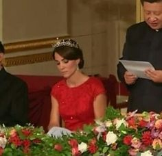 State Dinner for President Xi Jinping of China, 20 October 2015 - Kate, Duchess of Cambridge