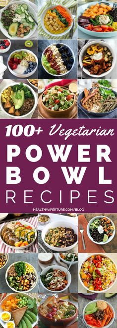 Healthy Vegetarian Power Bowl recipes are packed with protein and make a quick, easy meatless breakfast, lunch or dinner!These Healthy Vegetarian Power Bowl recipes are packed with protein and make a quick, easy meatless breakfast, lunch or dinner! Veggie Recipes, Whole Food Recipes, Cooking Recipes, Healthy Recipes, Quick Vegetarian Recipes, Lunch Recipes, Healthy Vegetarian Lunch Ideas, Dinner Healthy, Quick Vegetarian Dinner