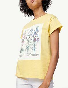 #Stradivarius #Floral print T-shirt