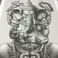 Image result for ganesh pencil drawing