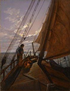 Boatmen on the Hoher See Carl Gustav Carus - circa 1820-1860