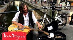 Amazing Blues Slide Guitar Street Musician