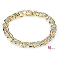 Fine Jewelry Jewelry & Watches Alert 24k Gold Bonded Link Bracelet Or Anklet 9 Inches With A Long Standing Reputation