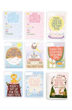 Milestone Baby Cards Illustrated Cards (Set of 30) available at #Nordstrom