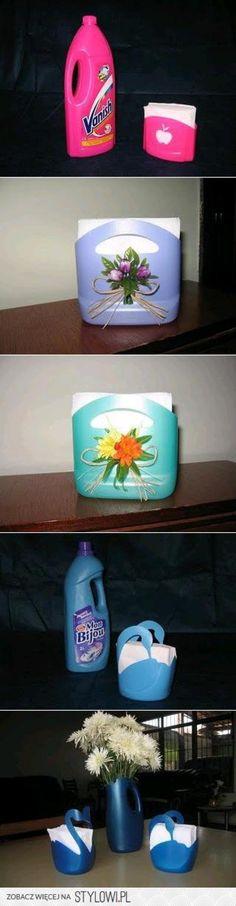 leuk idee, en weer hergebruik van plastic flessen