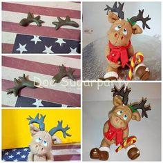 Fondant tutorial #1: Christmas reindeer tutorial - CakesDecor