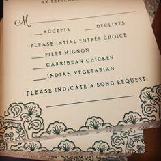 Because everyone must dance ;) #letterpress #weddinginvitation #rsvp