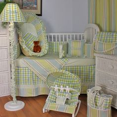 Master Blue Crib Bedding