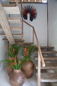 Ideas For Big Stairs Stairways Casa Hotel, Hotel Spa, Style Deco, Interior Stairs, Tropical Houses, Stairways, Decoration, My Dream Home, Ladder Decor