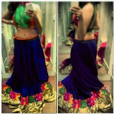 #IndianOutfit #royal blue #lehenga