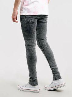 Black Acid Wash Super Spray On SKINNY jeans