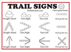Going on a nature walk? Play a version of hide and seek with these trail signs. … Going on a nature walk? Play a version of hide and seek with these trail signs. A fun game to play while camping, hiking with scouts or family. Camping Games, Camping Activities, Camping Crafts, Activities For Kids, Cub Scout Activities, Cub Scout Crafts, Indoor Activities, Learning Activities, Camping With Kids